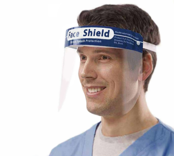 Face-Shield mit PVC Schutzvisier, verstellbar